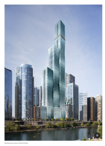Image of completed Vista Towers designed by Jeanne Gang