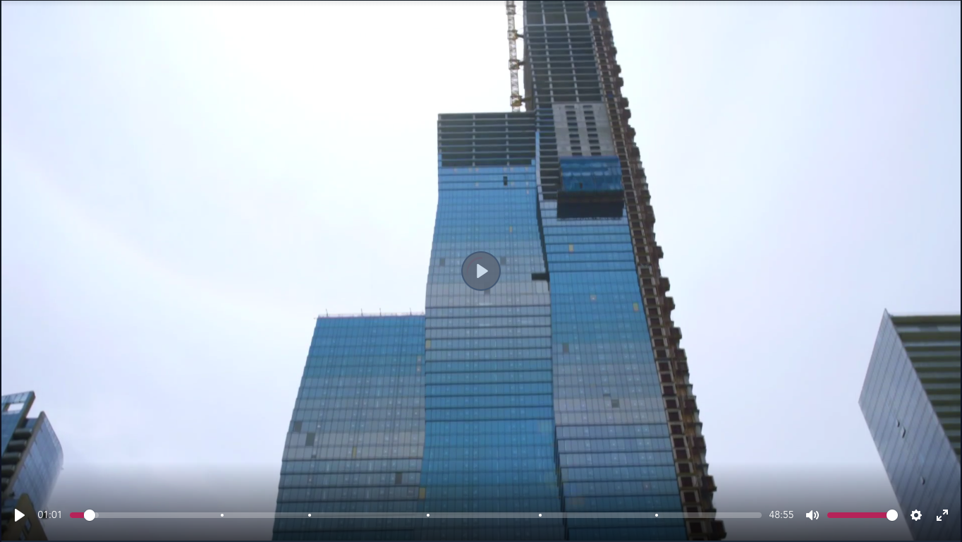 A screenshot of the Building Giants Video