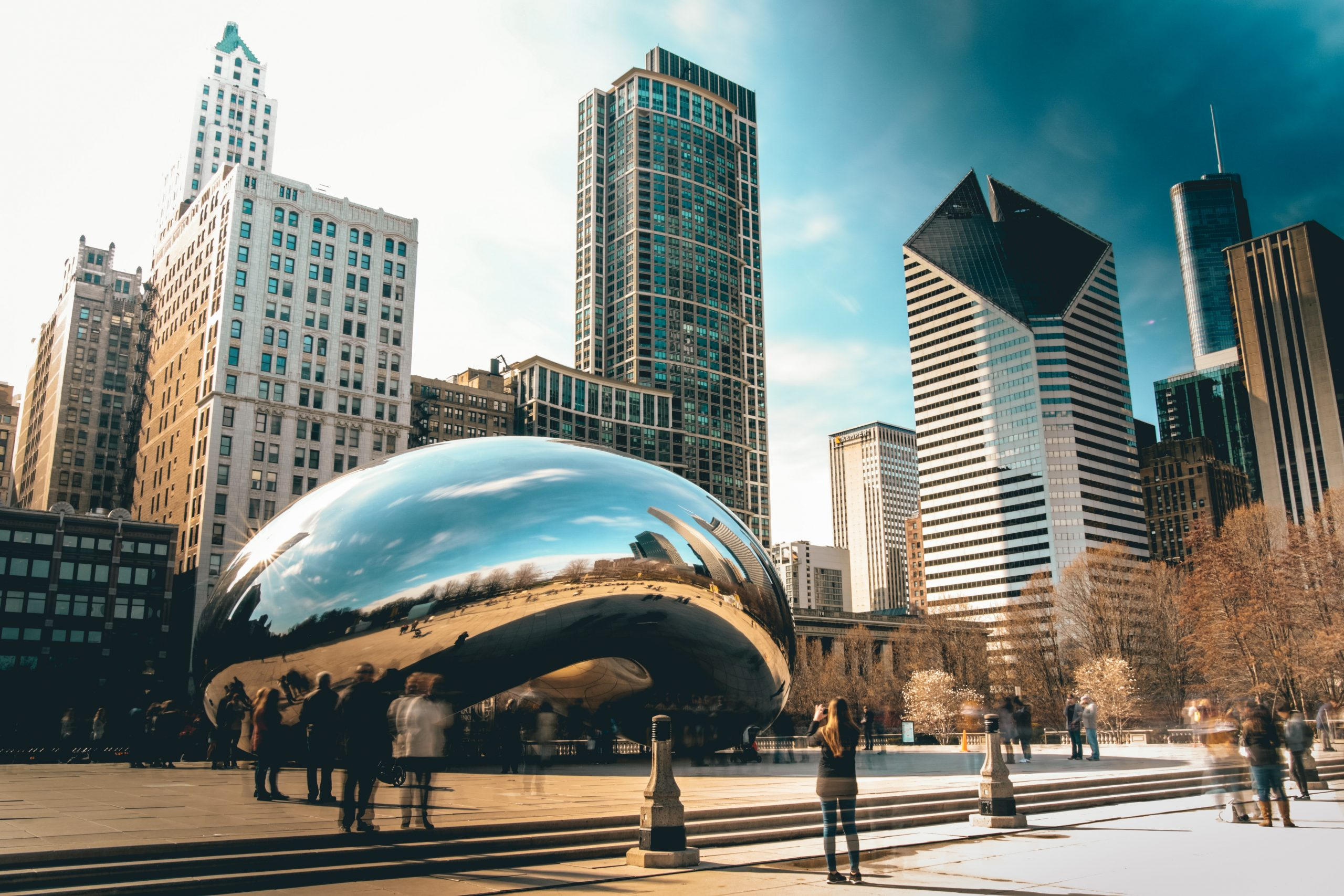 Image of The Bean and Millenium Park, two popular outdoor attractions in Chicago