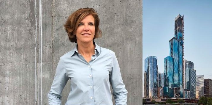 Photo of famous female architect Jeanne Gang & Vista Tower