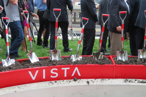 Image of groundbreaking at Vista Tower to indicate the beginning of Vista Tower construction in 2016