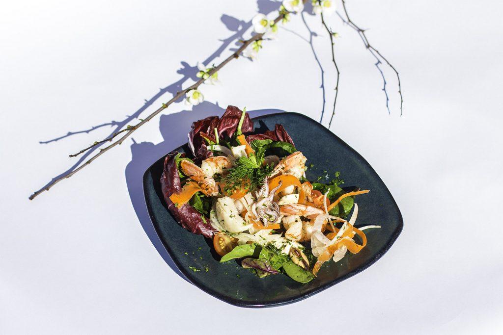 Shrimp Mikrolimano created by Head Chef of Avli on the Park, Nikolaos Kapernaros