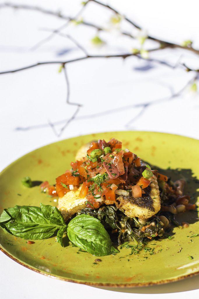 Lavraki Sofregada created by Head Chef of Avli on the Park, Nikolaos Kapernaros